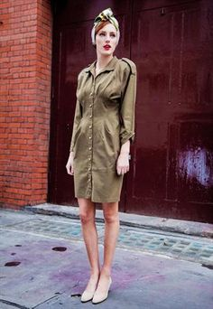 Vintage military style dress
