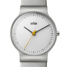 The Silver Braun BN0211 Features A Scaled Down 32mm Face And A Yellow  Seconds Ticker