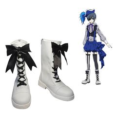 Black Butler Book of Circus Ciel Phantomhive Cosplay ShoesCosplaymade AU