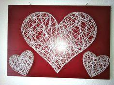String Art with Heart -- Custom Made. 120.00, via Etsy.