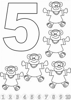Kids Math Learning Kids Math Activities Numbers with Pictures Nursery Math Printable Exercise 5 Numbers Preschool, Preschool Curriculum, Preschool Worksheets, Kindergarten Math, Toddler Activities, Learning Activities, Preschool Activities, Kids Learning, Math 5