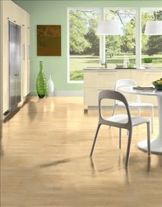 Hardwood floors are the perfect landscape for any design style. In this kitchen, the homeowners completed their Modern design with brown hardwood floors by Bruce. For more information on this product, please click the corresponding link. Bruce Hardwood Floors, Hardwood Floor Colors, Hardwood Tile, Bruce Flooring, Dark Hardwood, Wood Flooring Options, Diy Wood Floors, Solid Wood Flooring, Laminate Flooring