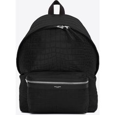 Saint Laurent Classic City Backpack ($1,850) ❤ liked on Polyvore featuring men's fashion, men's bags, men's backpacks, bags and yves saint laurent