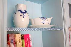 Masking tape om the shelf