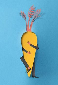 This illustration was for an article on eating disorders. Love love it! Hunger for love by Eiko Ojala, via Behance