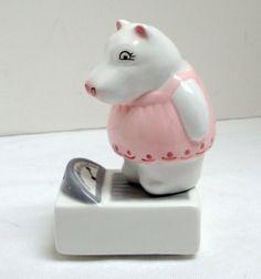 "Clay Art Studio ""HIPPO ON A SCALE"" Salt and Pepper Shaker Set | eBay"