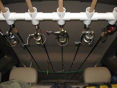 SUV Home Made Rod Holder - Expedition Portal