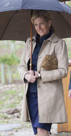 Sophie Gravin van Wessex op het Stonehenge Visitor's Centre.