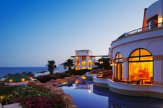 Poised on the edge of an 'aqua oasis', the 35-hectare Hyatt Regency Sharm el Sheikh Resort is embraced by the spectacular land and seascapes of Egypt's Sinai Peninsula, adjacent to Na'ama Bay