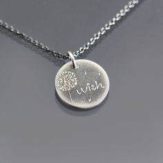 Tiny Dandelion Wish Necklace | sterling silver by Lisa Hopkins Design