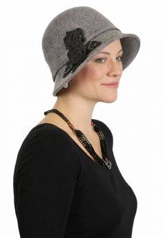 Lady Edith Fine Wool Felt Cloche Hat dressy hats downton abbey hats cancer headwear  chemo caps 2f6357a72439