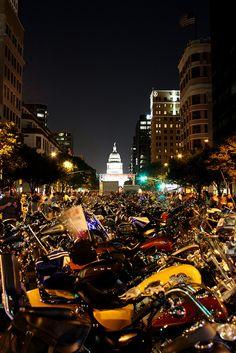 Austin, Texas Biker Run.