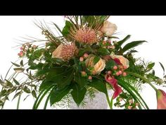 How to Arrange Flowers- A Cascading Wedding Bouquet! - YouTube