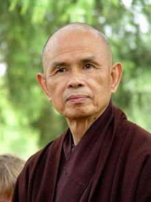 Thich Nhat Hanh, the Buddhist monk and zen teacher once nominated for the Nobel Peace Prize by Martin Luther King, Jr. Thich Nhat Hanh, Image Zen, Thought For Today, Stress, Buddhist Monk, Taoism, Spiritual Teachers, Sayings, Inspiring People