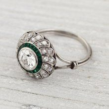 Vintage emerald engagement ring. Very pretty