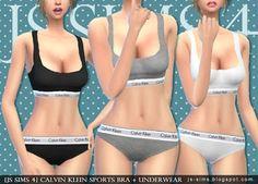 [JS SIMS 3&4] Calvin Klein Sports Bra+Underwear