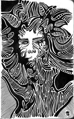 Tree Figure - Sketchbook - www.darylcampbell.com - #illustration #ink