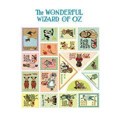 Stamp Sticker Set V.3 - The Wizard of Oz - OZ1972