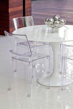 PANGEA/home  Chloe Chair - Clear - Set of 2  $199.00