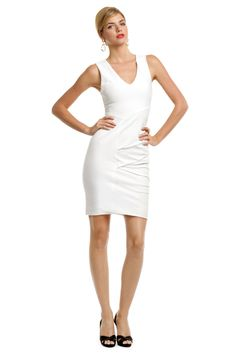 Saturn White Whirlwind Dress  By Yigal Azrouel  Retail $795, Rent for $125