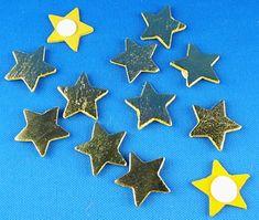 Goldene Sterne mit Klebepunkt