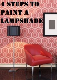 4 Steps to Paint a Lampshade- fun!!