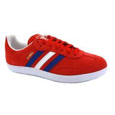 adidas samba red white and blue