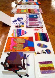 Neat idea - Summer camp art show