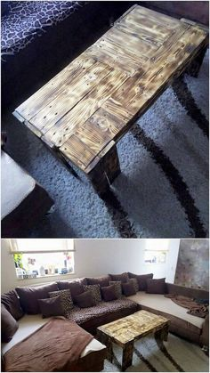 You would be falling in love with this wood pallet coffee table amazing design piece! It is being crafted in low bottom shaping all alongside with the leopard textured effect inside it. It look so exceptional and brilliant in the designing concepts. Add your house with beauty through this table design!