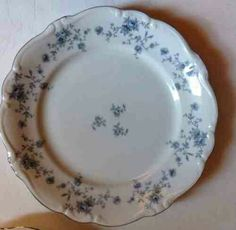 "Johann Haviland china from Bavaria Germany ""Blue Garland"""