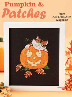 Pumpkin & Patches from the Sep/Oct 2016 issue of Just CrossStitch Magazine. Order a digital copy here: https://www.anniescatalog.com/detail.html?prod_id=133007