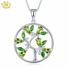 Cheap fine jewelry, Buy Quality tree life pendant directly from China tree pendant Suppliers: Hutang Tree of Life Natural Peridot Pendant 925 Sterling Silver Diopside Topaz Gemstone Necklace Fine Jewelry New Arrival Jewelry Tags, Gems Jewelry, Pandora Jewelry, Fine Jewelry, Peridot Jewelry, Jewelry Shop, Silver Jewelry, Jewelry Necklaces, Silver Rings