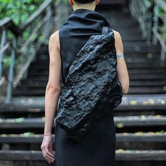 Designer Konstantin Kofta (previously) knows how to transform the classic school kid accessory into a surrealist piece of art. He morphs knapsacks into sculptural creations, like Grecian volutes, smooth pyramid shapes, human spines, and even lifelike faces. It's an outré accessory that is made to turn heads.