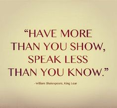 Shakespeare Quote from King Lear | Content in a Cottage
