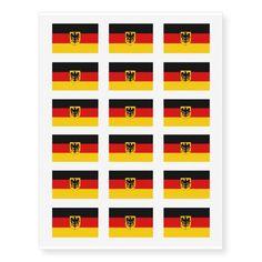 German flag temporary tattoos