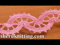 Get the more patterns at http://sheruknitting.com/ In this video you can see beautifully shaped flat crochet tape. Crochet tape tutorial consist of 2 parts. This crochet lace pattern you can use as a scarf, belt.