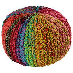 TYKAL pouffe in multicoloured ...