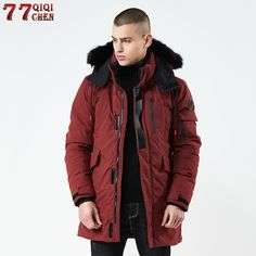 f466e3eb354 Big Discount High-quality 2018 Thick Warm Winter Jacket Men Windproof Long  Hooded Parka with