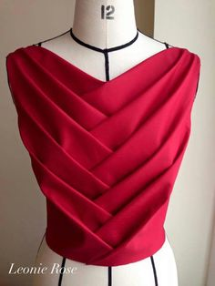 Idea: pleated top - would like to find out how this was done . . . website ng