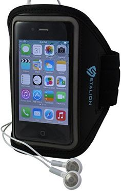 STALION Sports Armband for iPhone 4/4S (Black) Water Resistant + Sweat Proof + Key Holder [Lifetime Warranty]