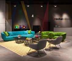 The Milan Fair 2016 | featuring the Odea sofa designed by Roberto Tapinassi and Maurizio Manzoni. #rochebobois #milan #design #salonedelmobile