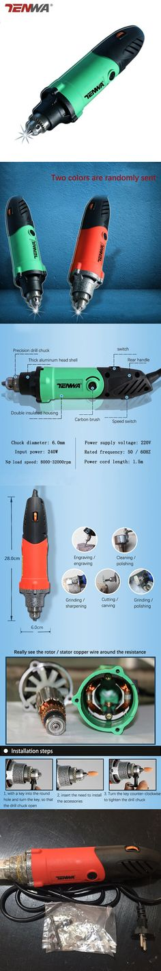 Crazy Power 6mm 480W High Power Mini Dremel Accessories Regulating Speed Drill Grinder Electric Grinding Milling Polishing Drill