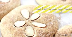 Sand dollar cinnamon sugar cookies. Want to make these for my mom's birthday!