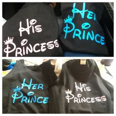 Our couple shirts for Disneyland #prince #princess