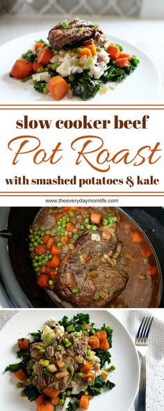This slow cooker pot roast recipe is one of the most delicious you will find! Perfect for family dinner on a weeknight or any time you want comfort food.