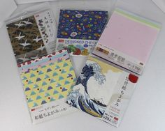 DAISO JAPAN  Traditional Paper Chiyogami Origami Set Of 5 Pack FREE Shipping NEW…