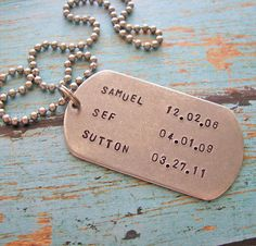 daddy dog tag necklace  personalize with your by juliethefish