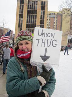 Union Thug (Wisconsin)//teacher or terrorist?-ask the governor