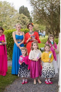 colourful wedding guests