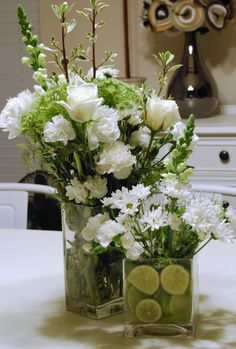The Shabby Nest: Simple and Pretty Floral Arrangement~